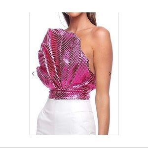 Eliya The Label Metallic Mermaid Shell Top